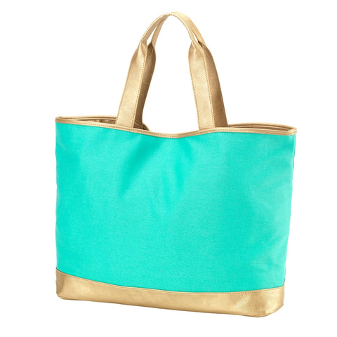 Image of Mint Cabana Tote