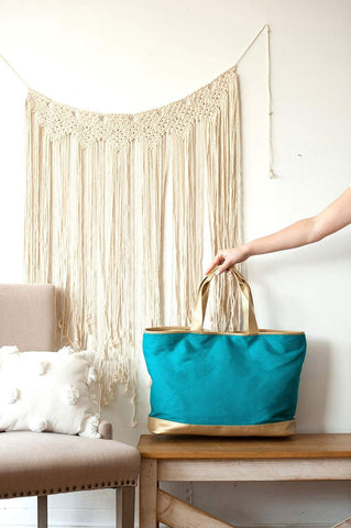 Image of Teal Cabana Tote
