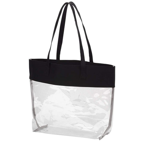 Image of Black Clear Tote