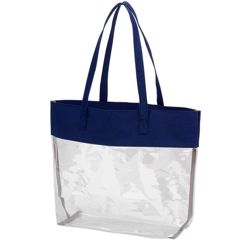 Image of Navy Clear Tote