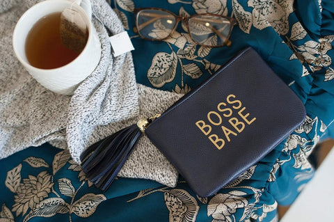 Image of Navy Boss Babe Coin Purse