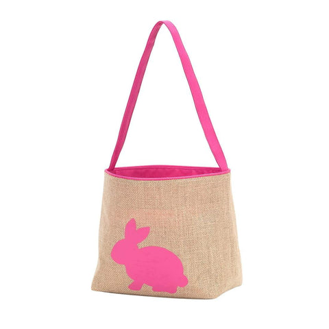 Image of Hot Pink Burlap Bunny Bucket