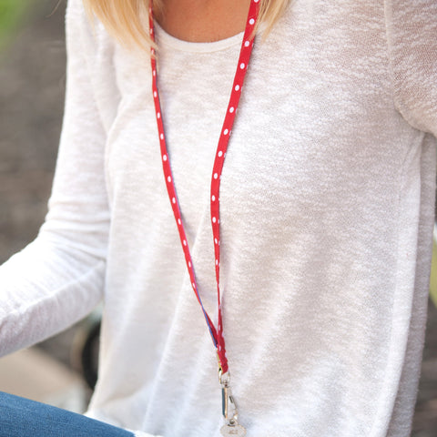 Image of Red Dot Lanyard