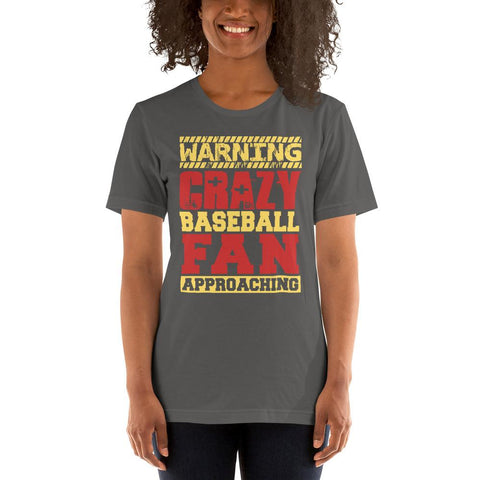 Image of Crazy Baseball Fan Short-Sleeve T-Shirt