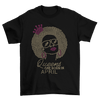 Queens Are Born In April Birthday Rhinestone T-Shirt