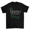 Queens Are Born In May Birthday Rhinestone T-Shirt