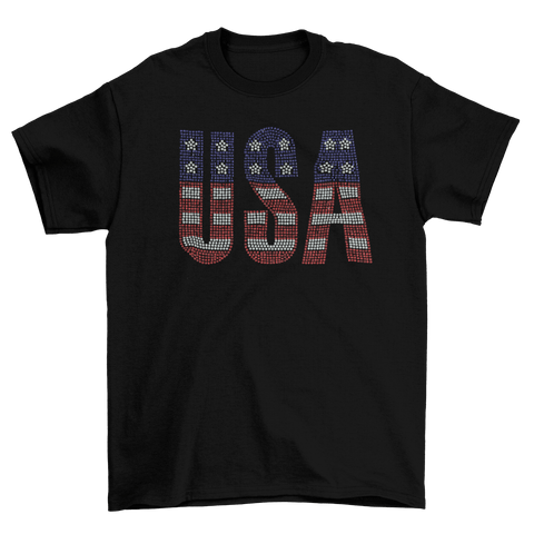 USA 4th of July Rhinestone T-Shirt