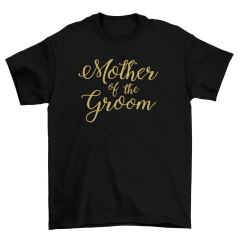 Image of Mother of the Groom Glitter Vinyl T-Shirt