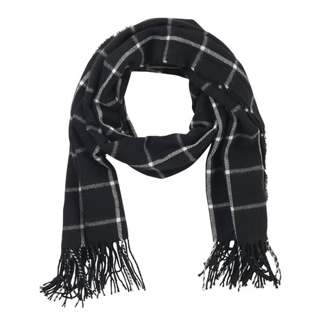 Image of Black Plaid Adaline Scarf