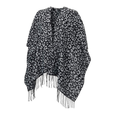 Image of Black Leopard Kennedy Shawl