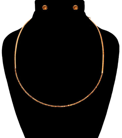 Image of Stoned Simple Necklace Set