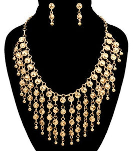 Drop Metal Necklace Set
