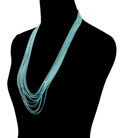 Colored Chain Necklace Set