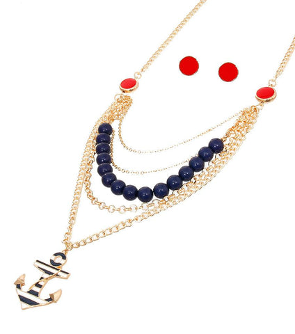 Image of Sea Theme Necklace Set
