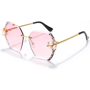 GMB Hexagon Rhinestone Sunglasses