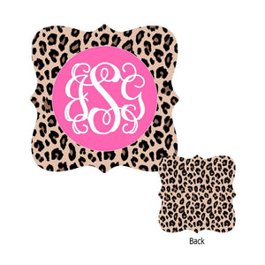 Leopard with Pink Ornament
