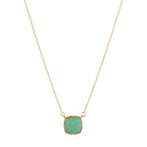 Image of Mint Druzy Necklace