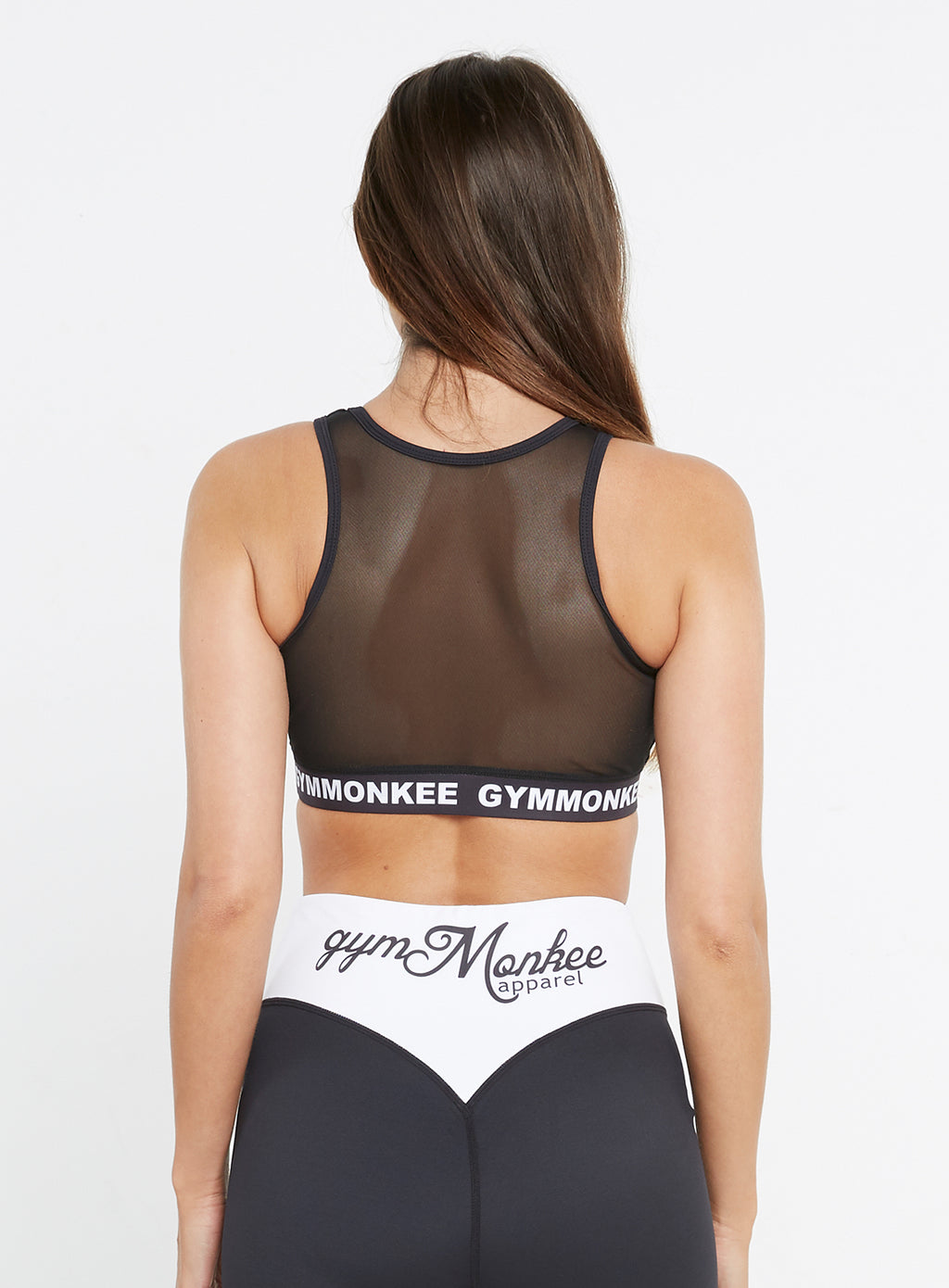 Gym Monkee - Black Sports Bra REAR