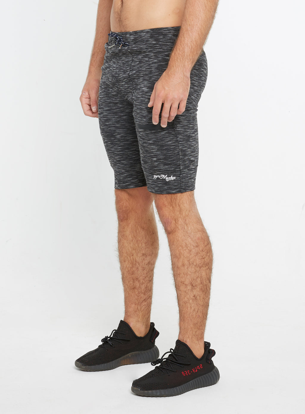 Gym Monkee - Black Striped Shorts LEFT