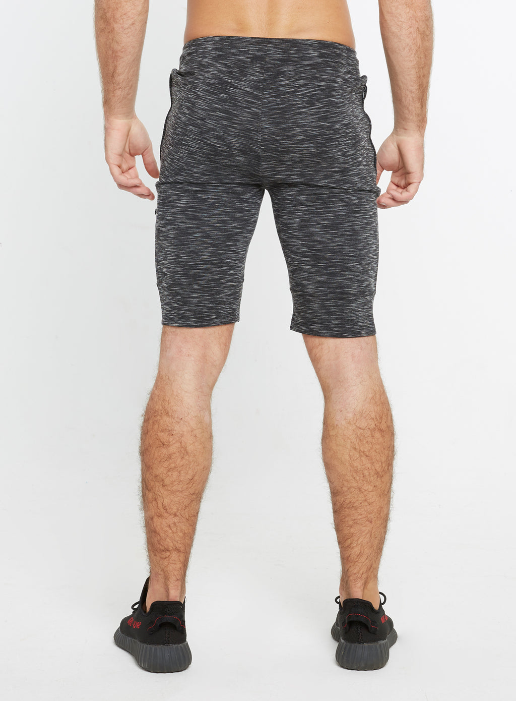 Gym Monkee - Black Striped Shorts REAR