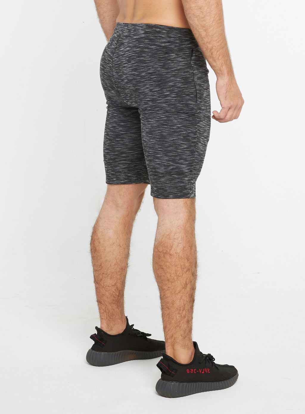 Gym Monkee - Black Striped Shorts RIGHT