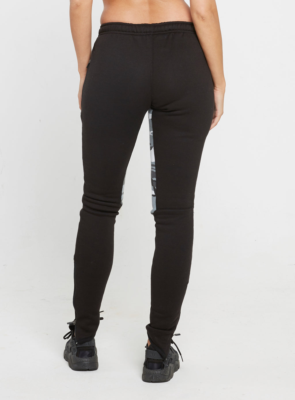 Gym Monkee - Ladies Black and Camo Joggers REAR