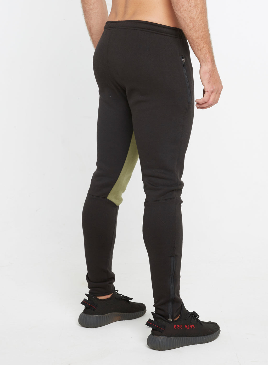 Gym Monkee - Black and Khaki Joggers REAR RIGHT