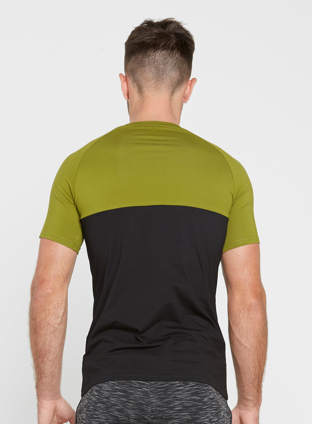 Gym Monkee - Black and Khaki Tee REAR