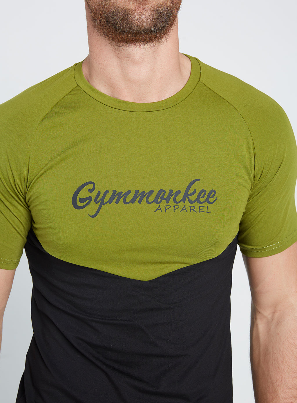 Gym Monkee - Black and Khaki Tee CHEST