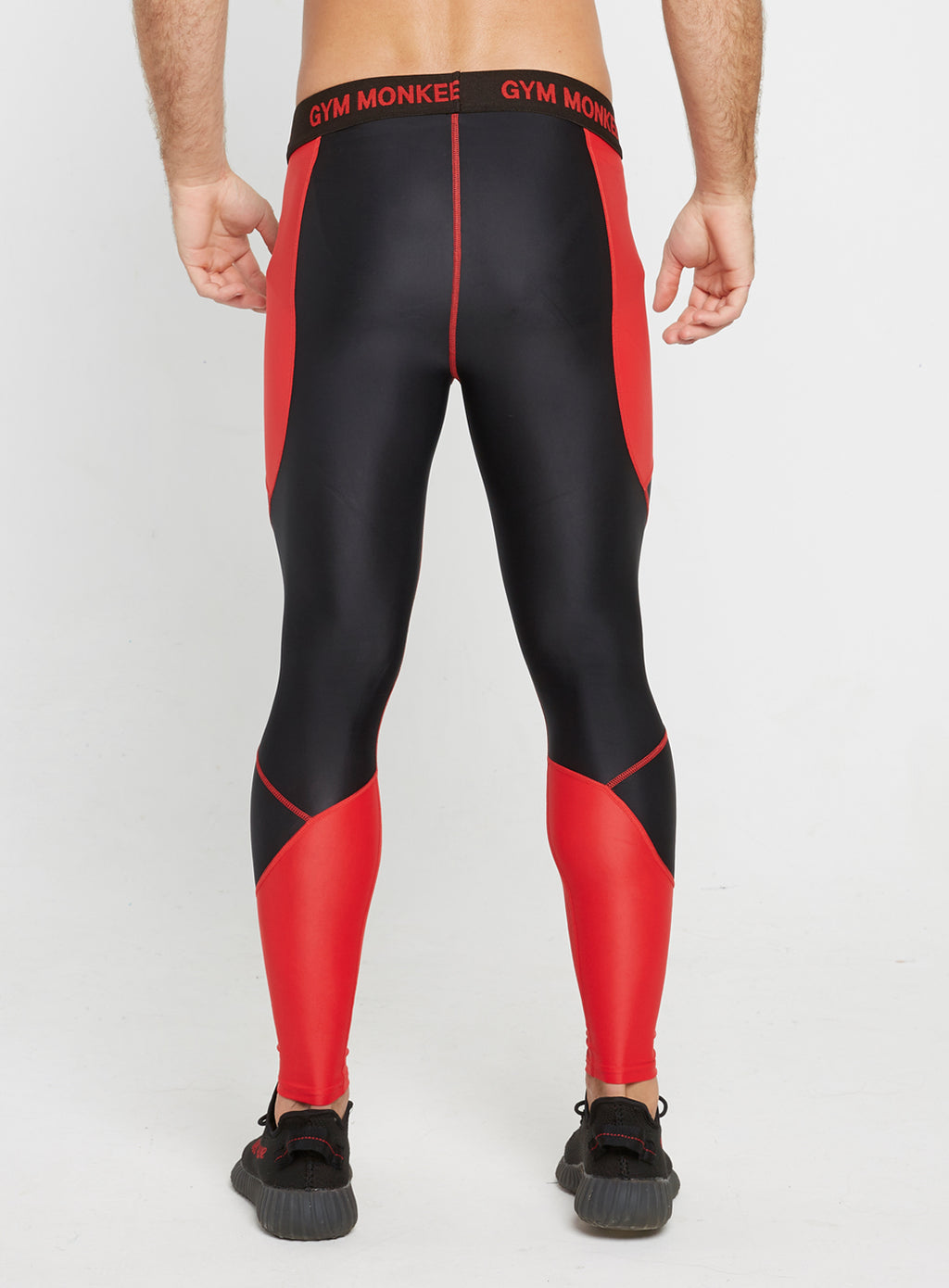 Gym Monkee - Black and Red Leggings REAR
