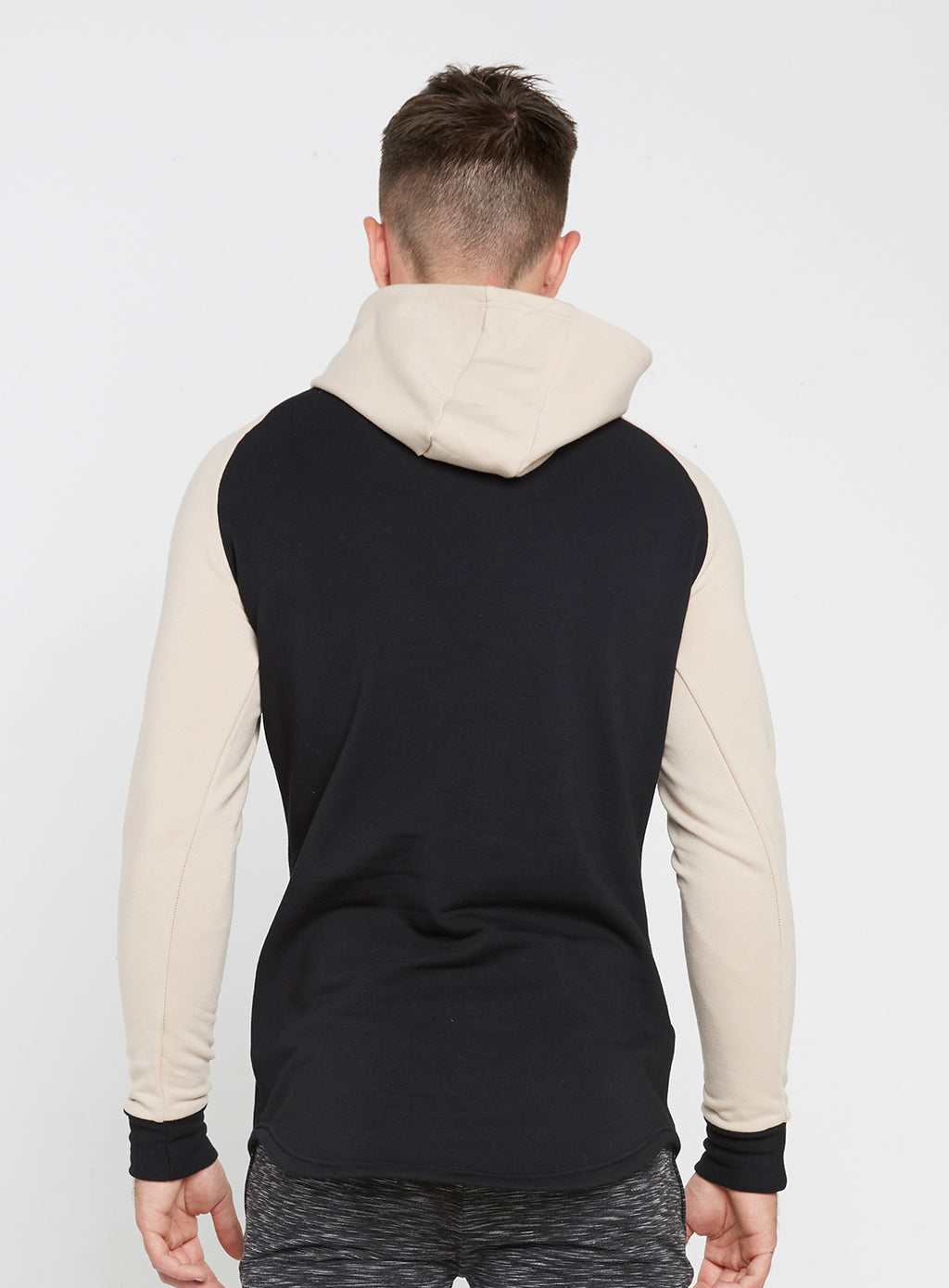 Gym Monkee - Black and Sand Hoodie REAR
