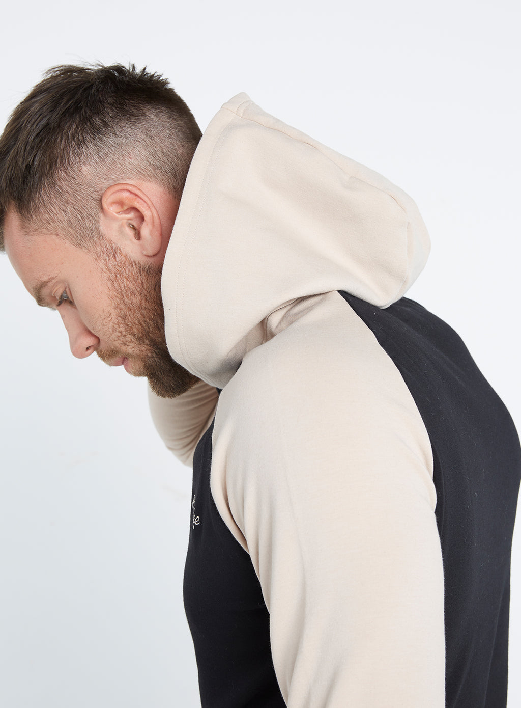 Gym Monkee - Black and Sand Hoodie HOOD