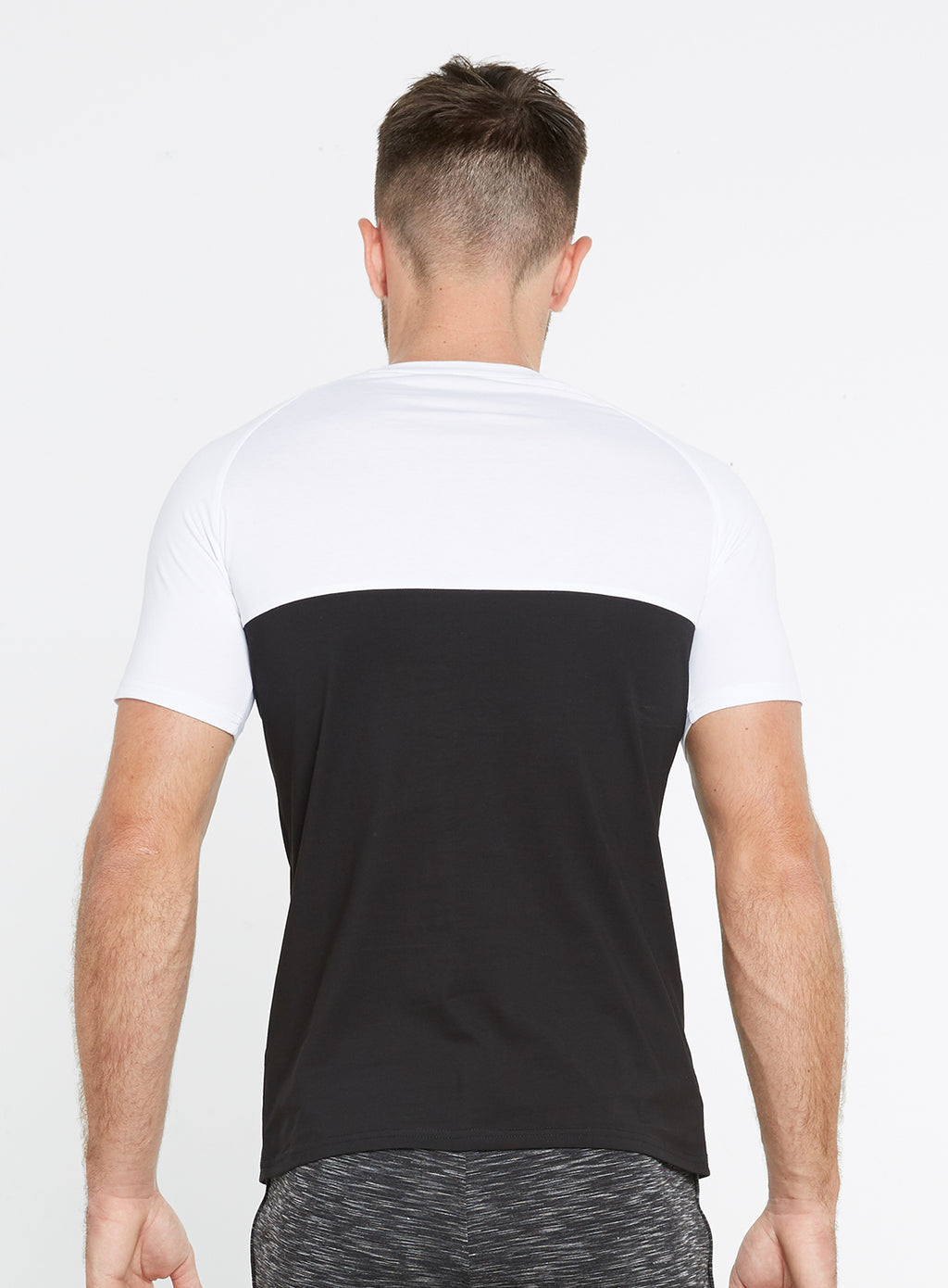 Gym Monkee - Black and White Tee REAR
