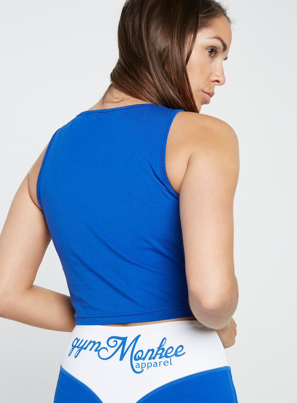 Gym Monkee - Ladies Blue Slogan Top REAR RIGHT