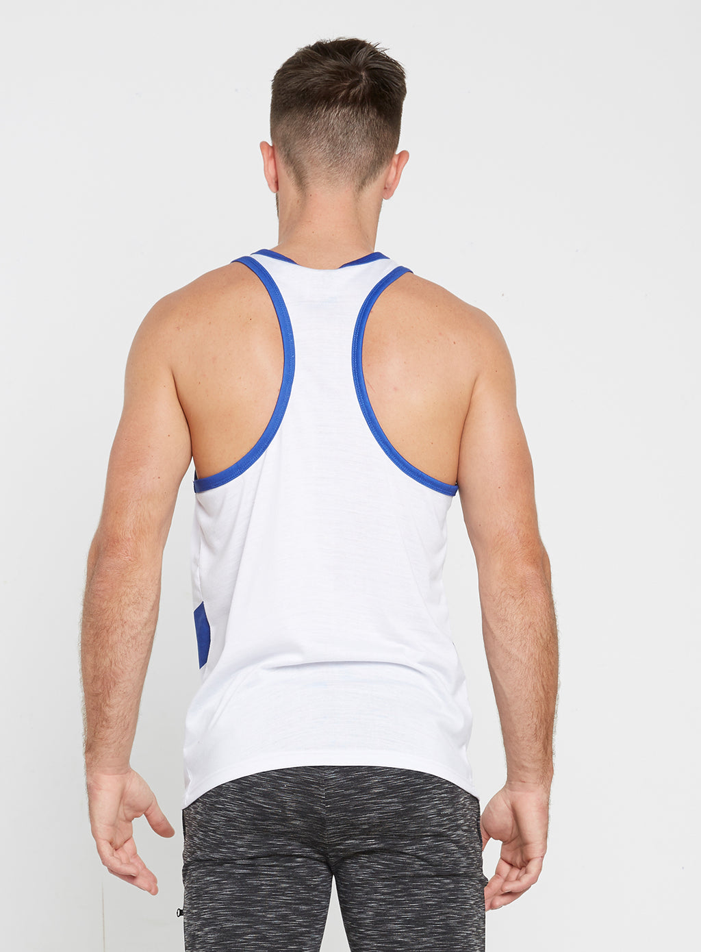 Gym Monkee - Blue and White Sublimated Vest REAR