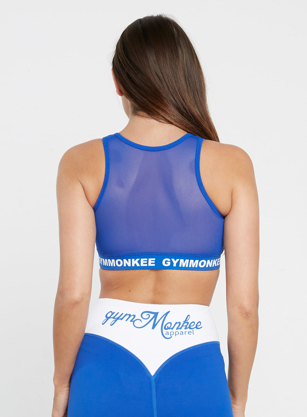 Gym Monkee - Blue Sports Bra REAR
