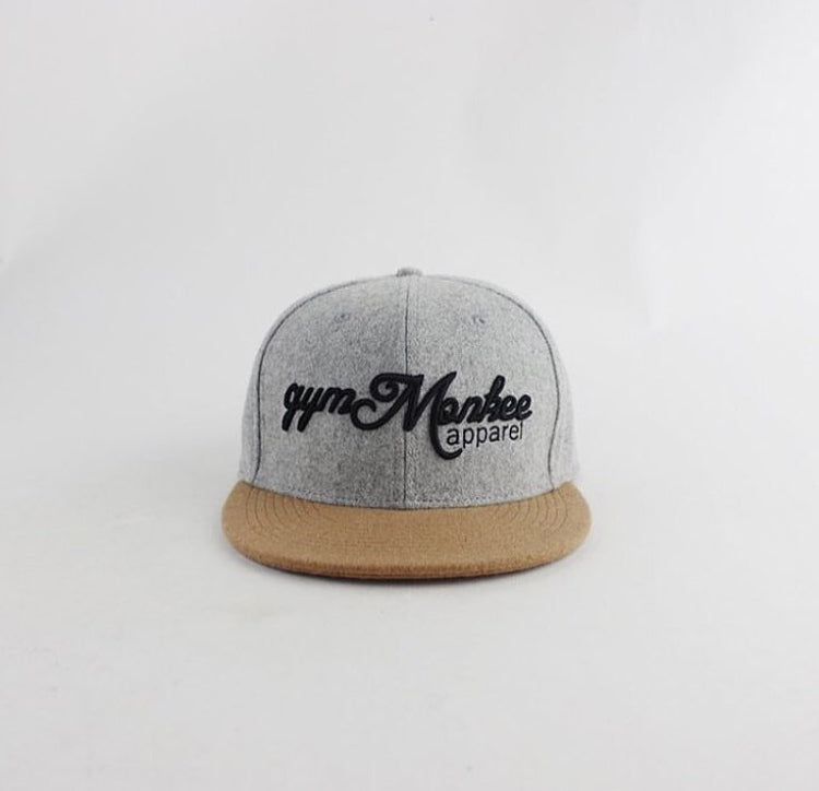 Grey and Tan Snapback