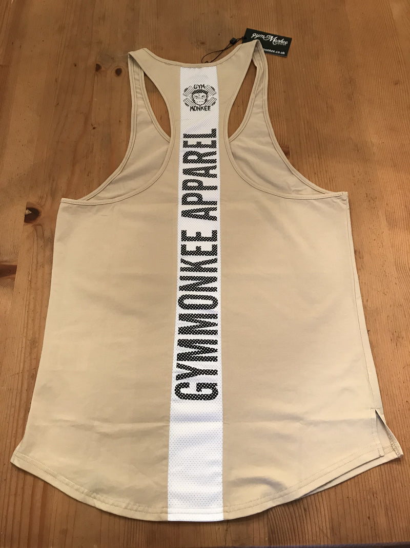 Gym Monkee - Beige Stealth Vest REVERSE