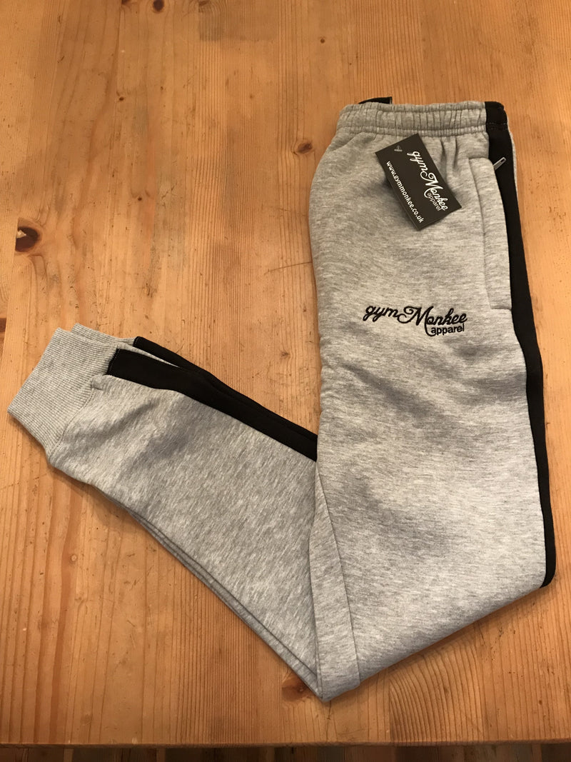 Gym Monkee - Grey & Black Joggers