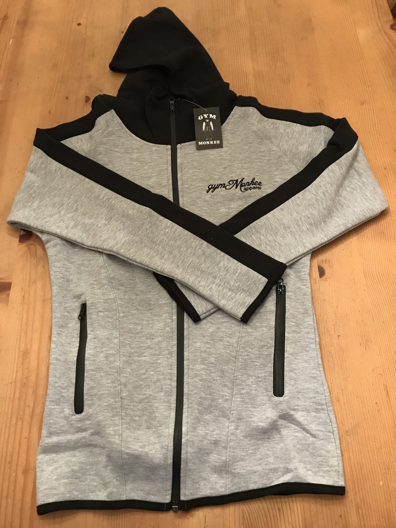 Gym Monkee - Grey & Black Zipped Hoodie