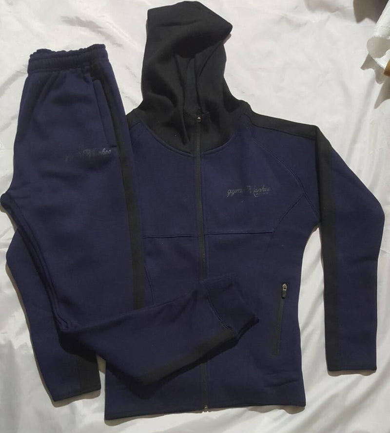 Gym Monkee - Ladies Navy Zipped Hoodie