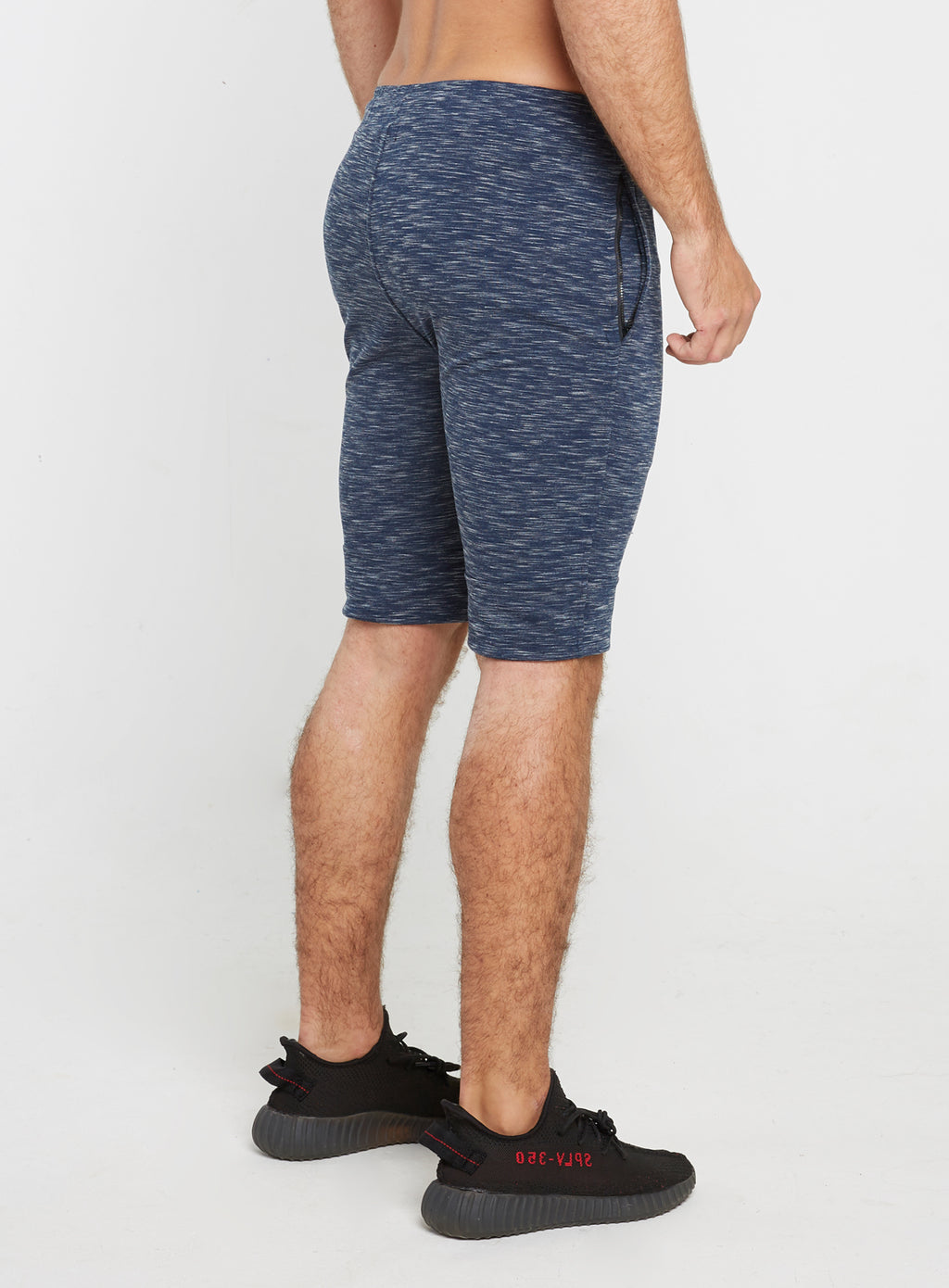 Gym Monkee - Navy Striped Shorts RIGHT