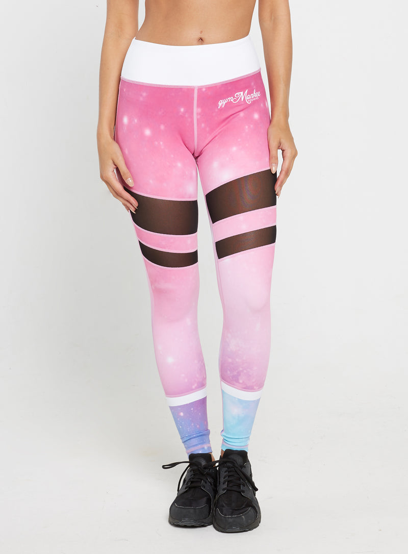Gym Monkee - Ladies Nebula Leggings FRONT