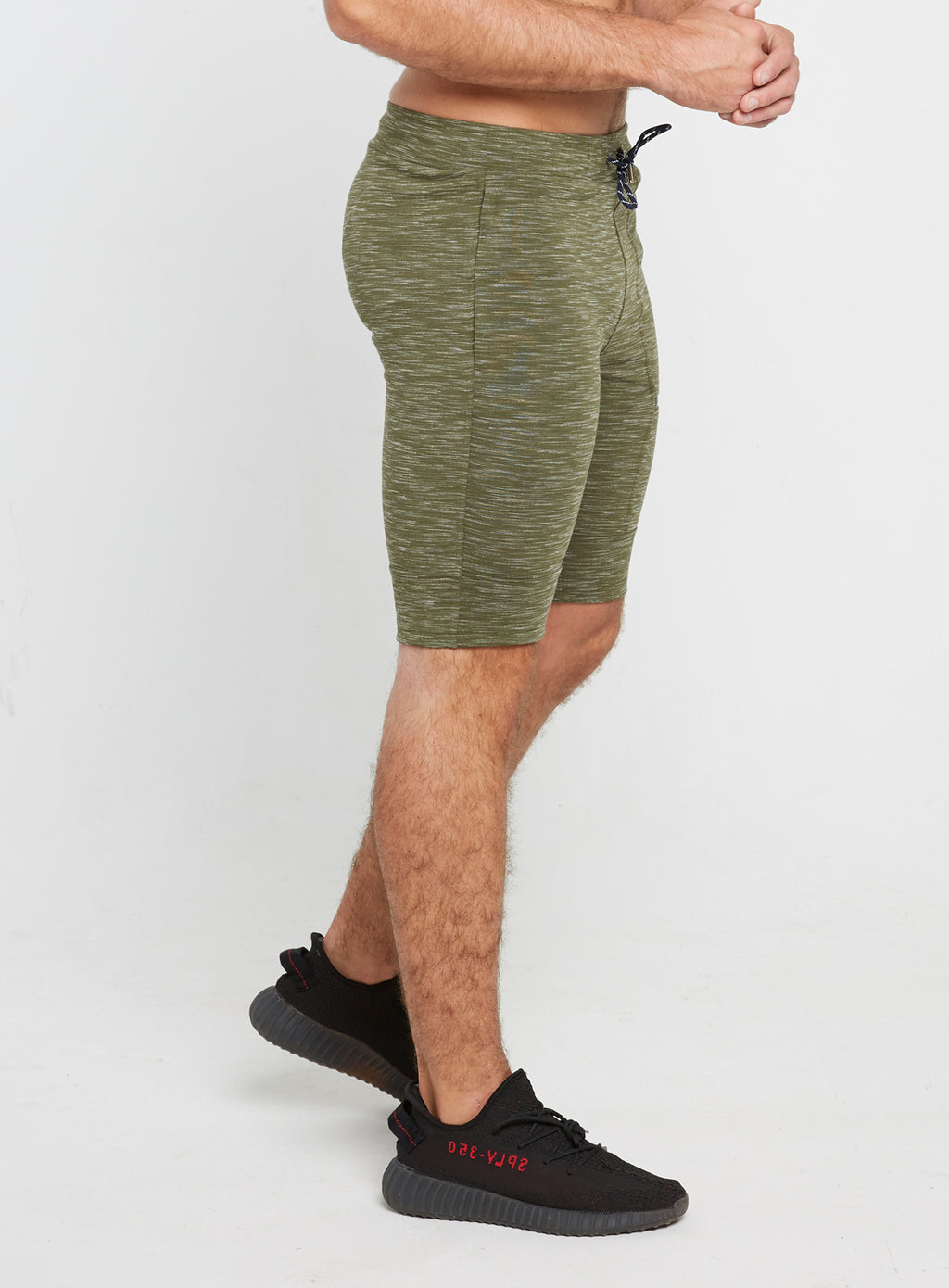 Gym Monkee - Olive Striped Shorts MOVING