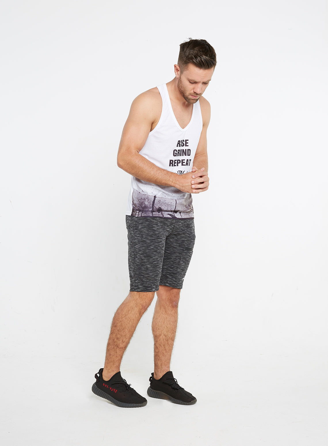 c3448072a34cb Gym Monkee - Rise Sublimated Vest FRONT FULL