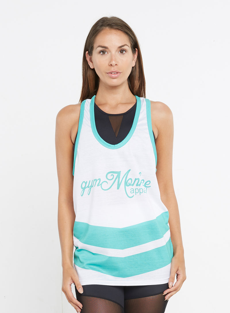 White and Teal Vest