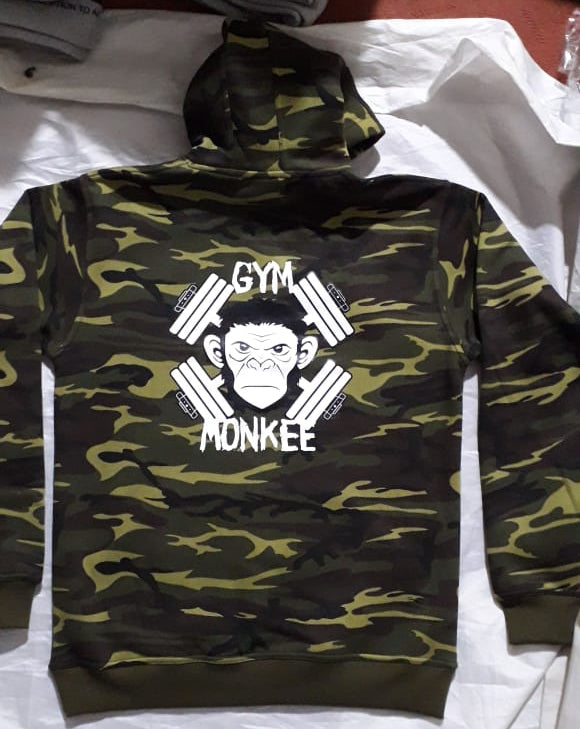 Gym Monkee - Womens Camo Bold Hoodie REVERSE