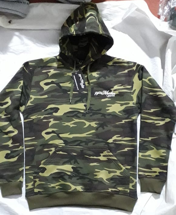 Gym Monkee - Womens Camo Bold Hoodie FRONT