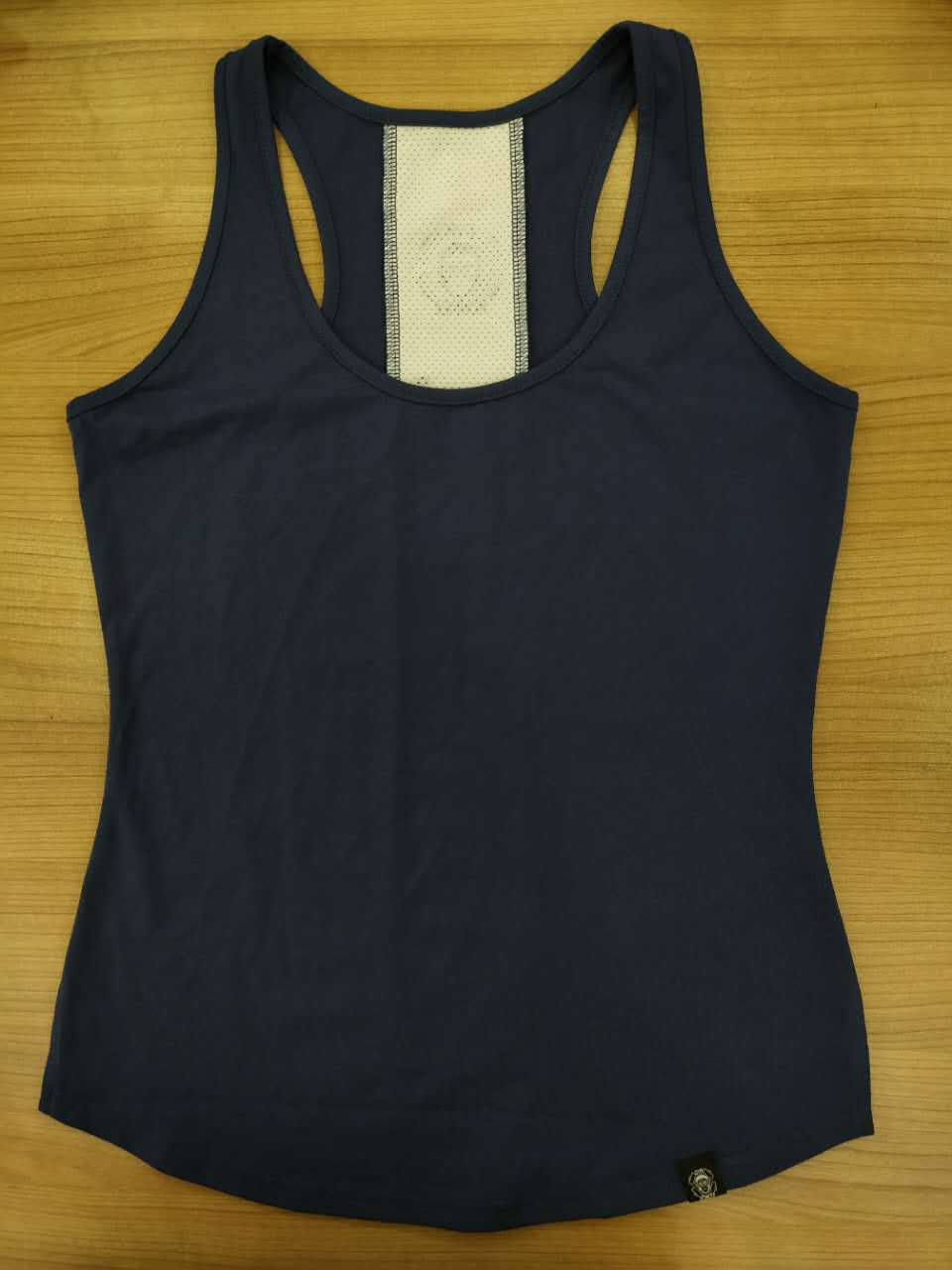 Gym Monkee - Ladies Navy Striped Tank FRONT