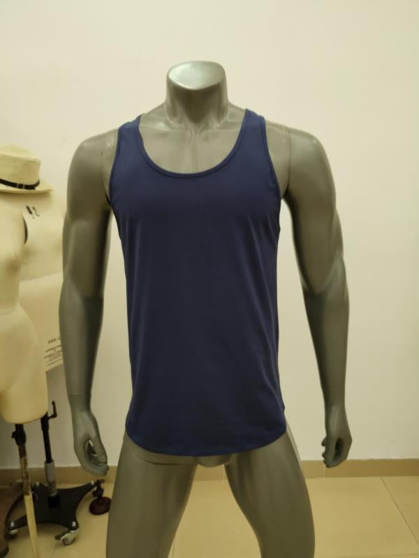 Gym Monkee - Navy Tank Top FRONT